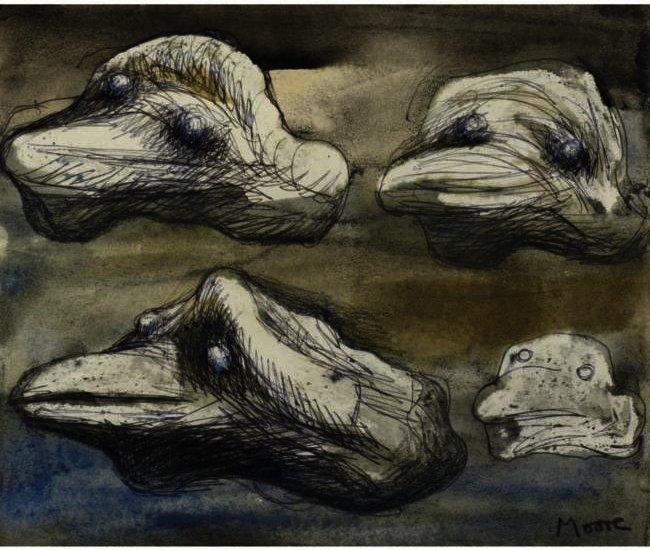 Four views of a pebble idea for sculpture zeichnung von for Sofa zeichnung