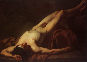 Jacques Louis David - Nackte Studie Hector