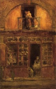 James Abbott Mcneill Whistler - a shop mit ein `balcony`