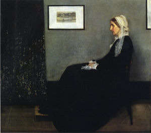 James Abbott Mcneill Whistler - arrangement in grau und schwarz . Porträt des Painter's Mutter - (Kunst auf Leinwand)