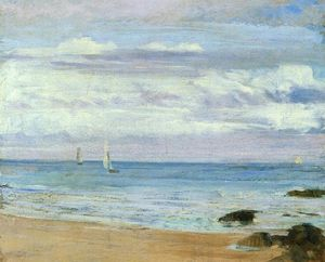 James Abbott Mcneill Whistler - blau und silber . Trouville