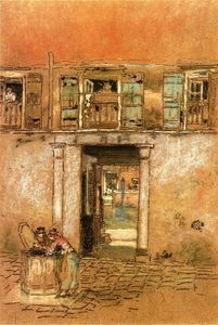 James Abbott Mcneill Whistler - Hof und Canal