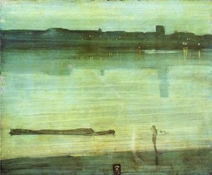 James Abbott Mcneill Whistler - nocturne` in blau und grün