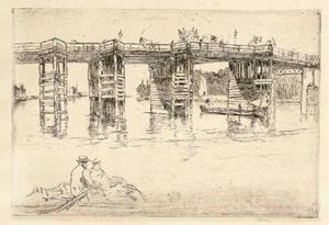 James Abbott Mcneill Whistler - old putney Brücke