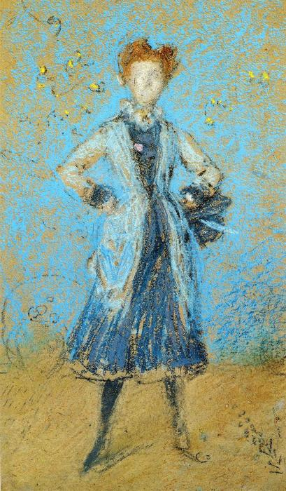 der blau mädchen von James Abbott Mcneill Whistler (1834-1903, United States) | Museumsqualität Prints James Abbott Mcneill Whistler | WahooArt.com