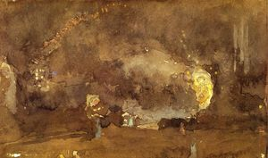 James Abbott Mcneill Whistler - der feuer rad