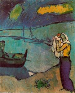 Pablo Picasso - mutter und kind am strand