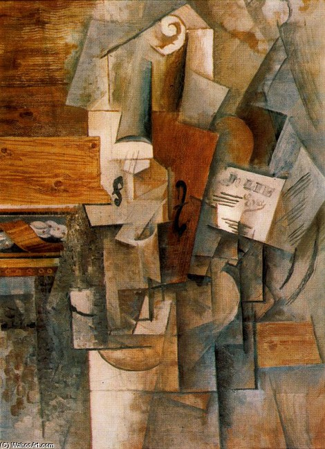 der violine l von pablo picasso 1881 1973 spain. Black Bedroom Furniture Sets. Home Design Ideas