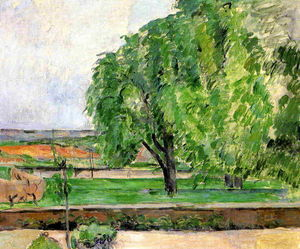 Paul Cezanne - Landschaft am Jas de Bouffin