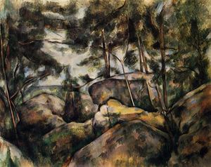 Paul Cezanne - Felsen am Fountainebleau