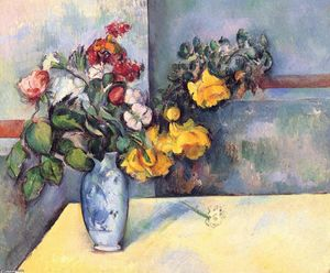 Paul Cezanne - stillleben blumen in a vase