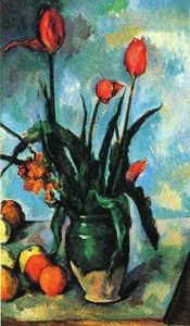 Paul Cezanne - tulpen in einer vase