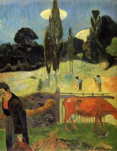 Paul Gauguin - der rote kuh