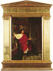 Lawrence Alma-Tadema - Ein Roman Scribe Writing Dispatches