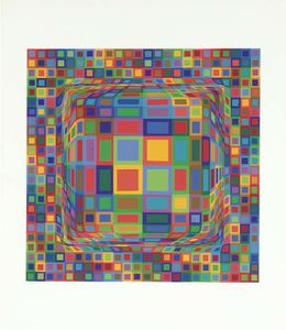 Victor Vasarely - abstrakt komposition 30