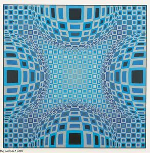 Victor Vasarely - Komposition 8