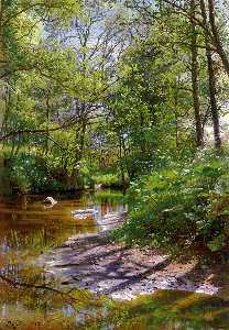 Peder Mork Monsted - a fluss landschaft