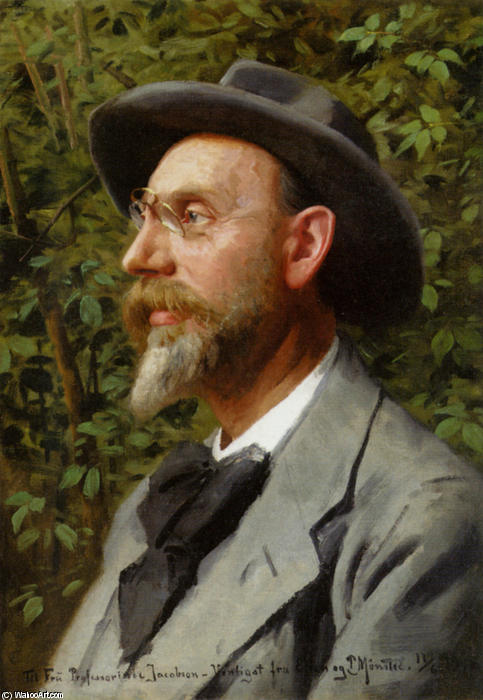 Portraet Af Professor Jacobsen, öl von Peder Mork Monsted (1859-1941, Denmark)