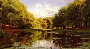 Peder Mork Monsted - flusslandschaft 2