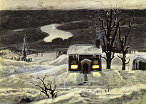Charles Ephraim Burchfield - Cloud And Lonely Bauern