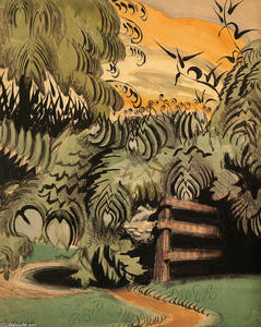 Charles Ephraim Burchfield - Cricket Chorus in der Laube