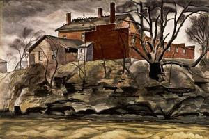 Charles Ephraim Burchfield - Rock Creek Banküber