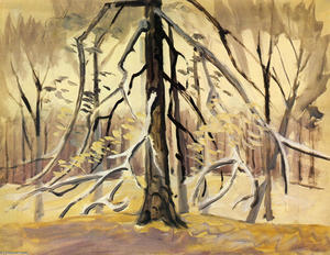 Charles Ephraim Burchfield - Silbernes Licht November Coming Through Trees