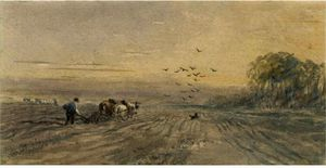 David Cox - The Plough-Teams