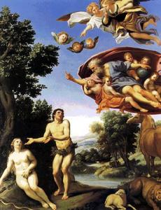 Domenichino (Domenico Zampieri) - adam und eva