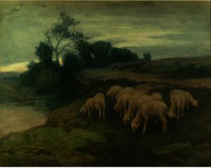 Eanger Irving Couse - Grazing Sheep