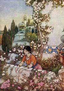 Edmund Dulac - Die Rubaiyat. Blowing Rose