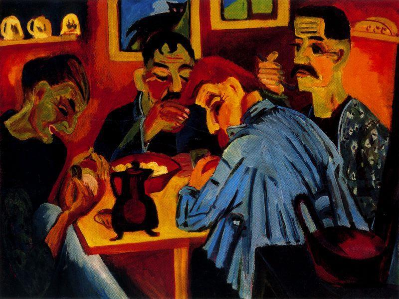 Farmers at Noon von Ernst Ludwig Kirchner (1880-1938, Germany) | WahooArt.com