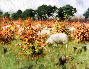 George Hitchcock - Grazing Sheep