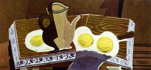 Georges Braque - Pitchet , glas und zitronen