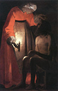 Georges De La Tour - job `mocked` durch sein frau