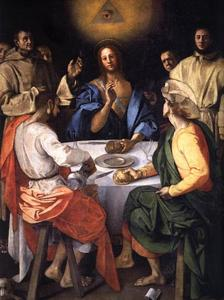 Jacopo Carucci (Pontormo) - Abendmahl in Emmaus