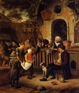 Jan Steen - The Little Alms Collector