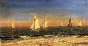 Jasper Francis Cropsey - a studie bei lang strand