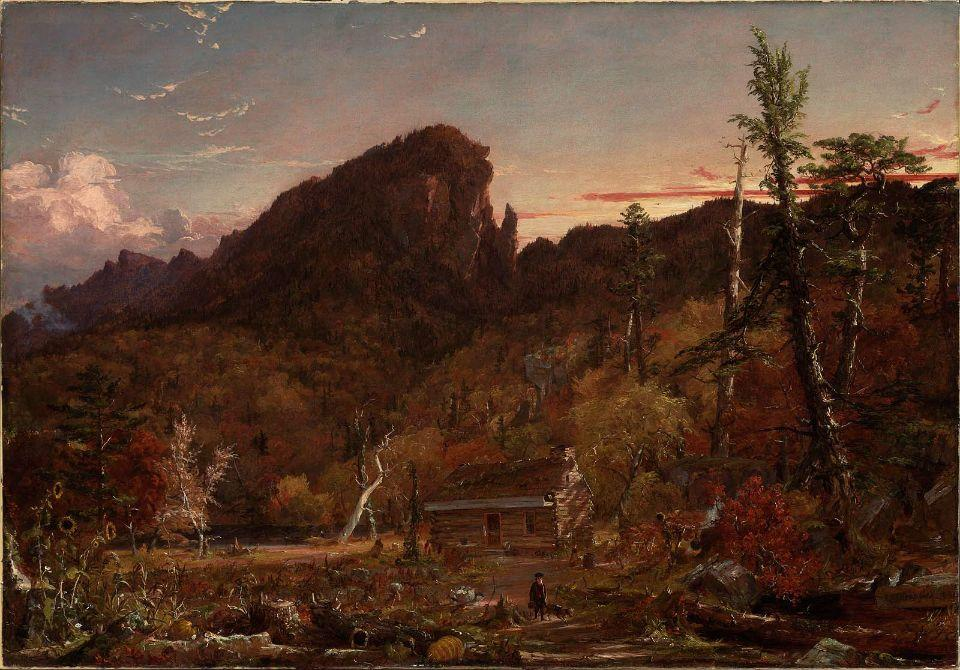 Eagle Cliff, New Hampshire von Jasper Francis Cropsey (1823-1900, United States)