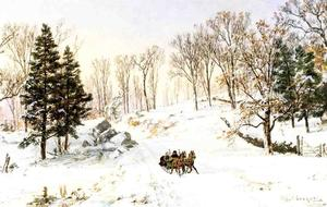 Jasper Francis Cropsey - winter auf rivensdale road , Hastings-on-Hudson , new york