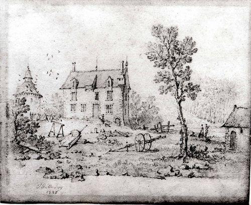 Country Farmhouse von Jean-Baptiste Oudry (1686-1755, France)
