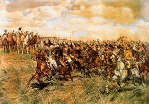 Jean Louis Ernest Meissonier - Der battle of Friedland . 1807