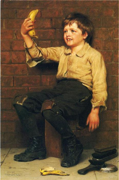 Banana Boy von John George Brown (1831-1913, United Kingdom)