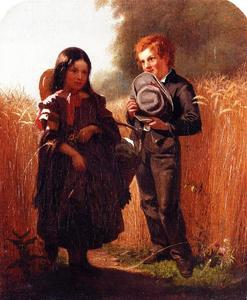 John George Brown - Kommende Thro the Rye