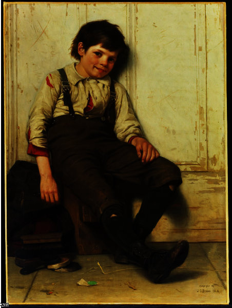Lazy Bones von John George Brown (1831-1913, United Kingdom) | WahooArt.com