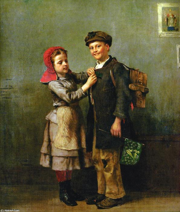 St. Patrick s Day, öl auf leinwand von John George Brown (1831-1913, United Kingdom)