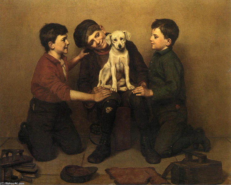 Das Findelkind, 1907 von John George Brown (1831-1913, United Kingdom) | WahooArt.com