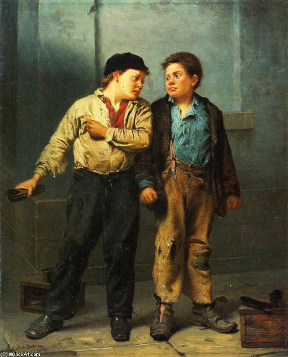 Der Streit, 1866 von John George Brown (1831-1913, United Kingdom) | WahooArt.com