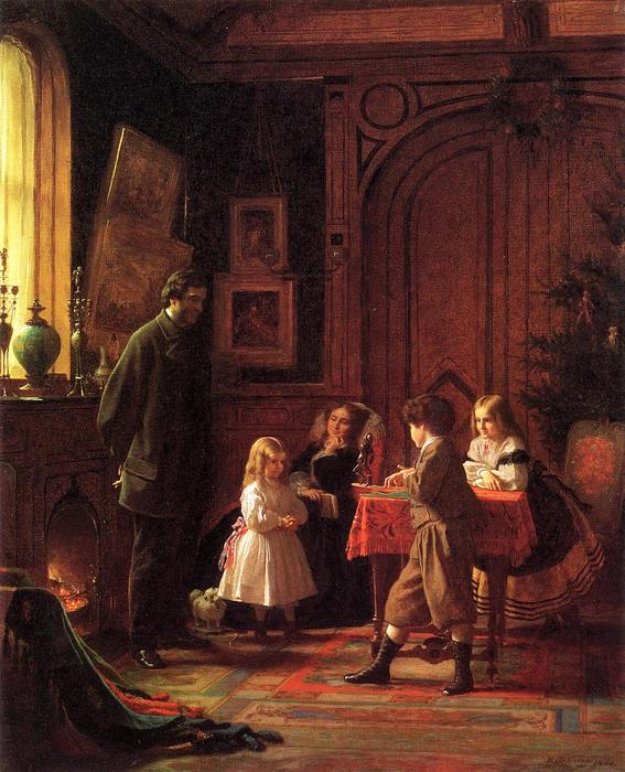 Christmas Time (aka Der Blodgett Familie) von Jonathan Eastman Johnson (1824-1906, United Kingdom) | WahooArt.com
