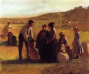Jonathan Eastman Johnson - Cranberry Pickers